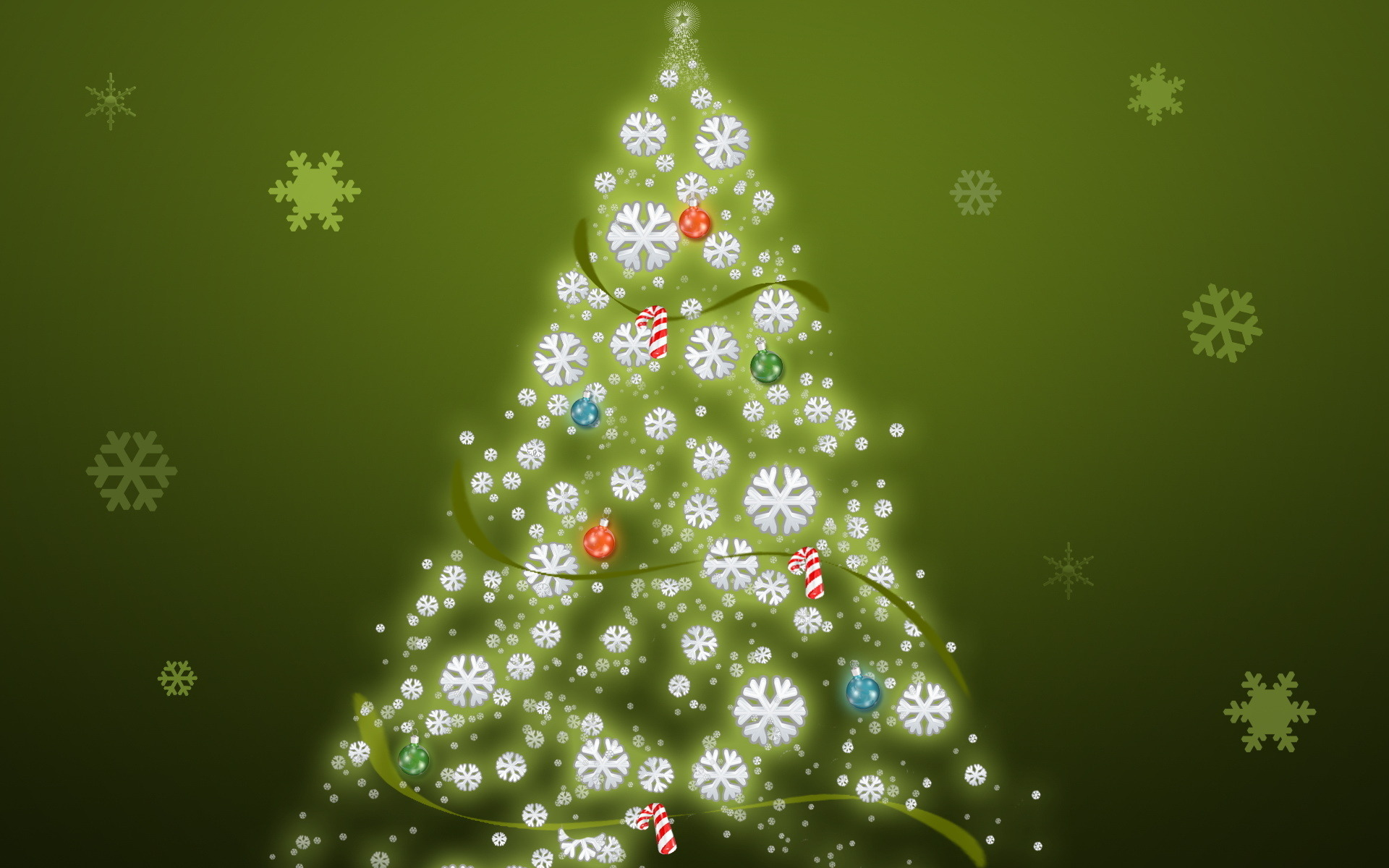 Новогодняя композиция из хвойных ветвей вместо ёлки